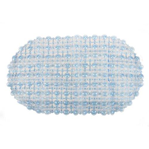 Moen Pvc Drain (MIJORA-PVC Strong Non S Bathroom Bath Floor Shower Tub Mat Massage Pad Suction Cup V3M4(color:blue))