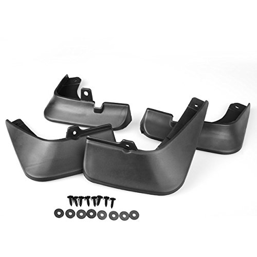 99Parts Black ABS Plastic Mud Flaps Splash Guards Fender Front + Rear for Mazda 3 AXELA Hatchback 14 15 16
