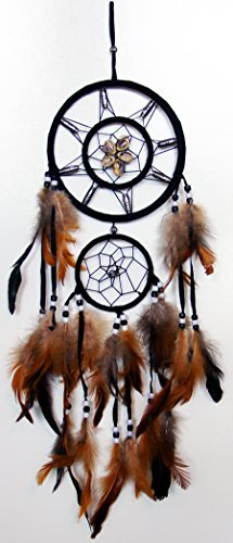 Dynler Products Dream Catcher Wall Hanging with Beads, Shells, Feathers Art Weaving & Native American History Poem