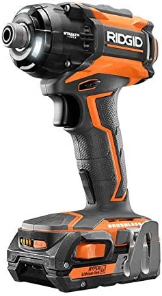 Ridgid ZRR86036K Stealth Force 18V 2.0 Ah Cordless Lithium-Ion Brushless Pulse 1 4 in. Impact Driver Kit Renewed