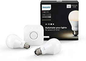 Hue White A19 Starter Kit (Compatible with Amazon Alexa, Apple Home Kit and Google Assistant)