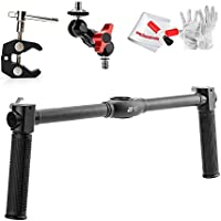 Zhiyun Dual Handheld Grip with Magic Arm Adapter and Photography Super Clamp Crab Plisers Clip for Zhiyun Crane Zhiyun Crane-M 3-Axis Handheld Gimbal Stabilizer - Including PERGEAR Cleaning Kit