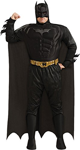 Morris Costumes Men's Batman Dlx Muscle Chest Costume, 46-52