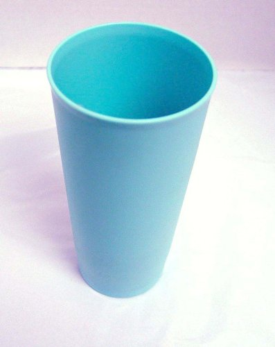 Vintage HTF Country Blue Textured Pastel Tupperware Tumbler 18 Ounces