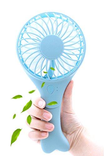 PickUrStyle Handheld Fan Mini Portable USB Fan for Outdoor Travel & Indoor Office Desk Blue