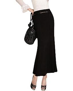 CHENGYANG Femme Maxi Jupe Crayon Longue Taille Haute Élastique ... ddaf364f959f