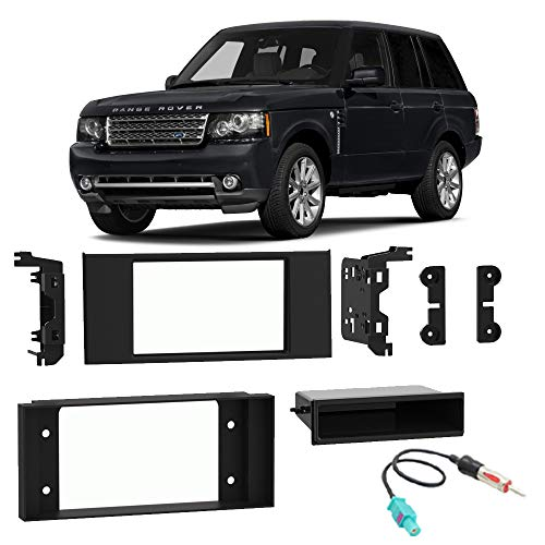 Fits Land Rover Range Rover 2003-2012 Single Double DIN Stereo Radio Install Dash Kit ()