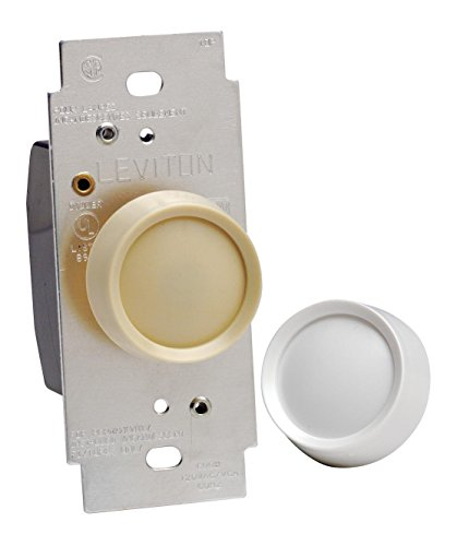 Leviton 6602-IW Trimatron 600W Incandescent Rotary Dimmer, Single Pole, 3-Pack, (Trimatron Incandescent Rotary Dimmer)