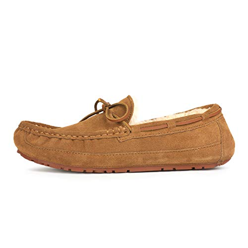 DREAM PAIRS Men's Au-Loafer-02 Tan Faux Fur Slippers Loafers Shoes Size 10 M US by DREAM PAIRS (Image #1)