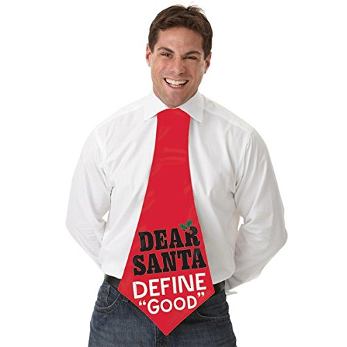 amscan Jumbo Dear Santa Define Good Tie | Christmas Costume ()