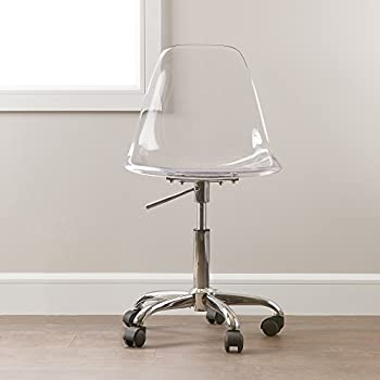 clear office. south shore clear acrylic office chair with wheels