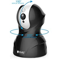 Security Camera, iDudu Wireless WiFi Home Security Surveillance Camera System Home Monitor with Pan/Tilt/Zoom Night Vision Two-Way Audio, Black