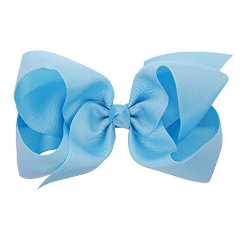 Hair Clips Boutique Hair Bows Alligator Clip for Women Girl Hairpin 6 Inch TSFJ02 (Light Blue) ()