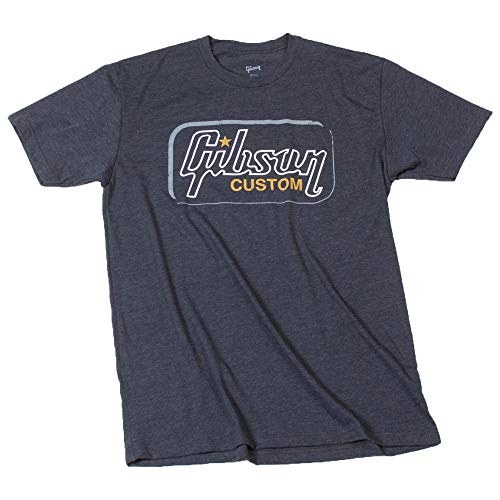 Gibson Gear Unisex-Adult's Gibson Custom T, Heathered Gray, Medium