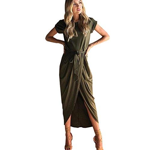Vestido verde largo casual
