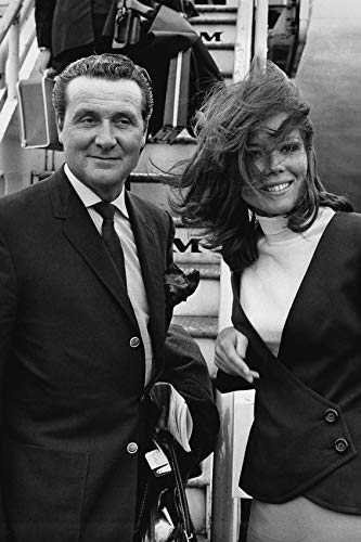 Patrick Macnee and Diana Rigg in The Avengers Posing by Pan Am Aircraft London Airport 24x18 Poster