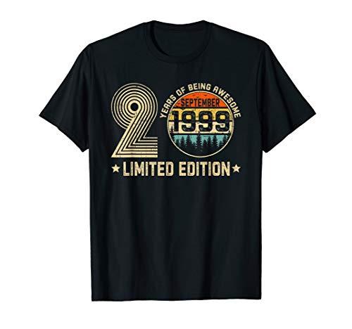 September 1999 T-Shirt Vintage 20th Birthday Gift 20 Yrs Old T-Shirt