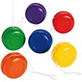 Kicko Mini Plastic Yo-Yos 1.25 Inches - Pack of 16 - Assorted Colors Fun Small Plastic Yoyos - for Kids - Party Favors, Bag Stuffers, Fun, Toy, Prize