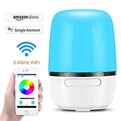 WiFi Smart Bedside Lamp - App Control Compatible with Alexa, LED Ambient Night Light, Table Lamp Desk Lamp, RGB Color Changing & Timer, Works with Echo/Google Home, Mood Lamp for Reading & Sleeping
