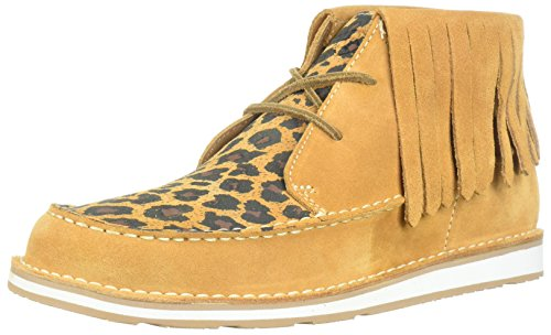 Fringe Shoes (Ariat Women's Cruiser Fringe Sneaker, Dark Tan/Tan Leopard Print, 7.5 B US)