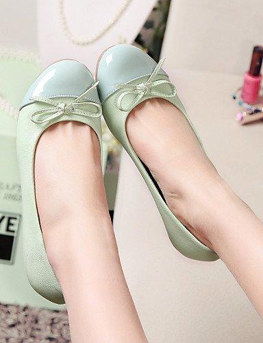 light eu36 blanco blue Casual talón us5 uk3 plano 5 mujer Flats azul zapatos cn35 punta PDX de de redonda 5 rosa wTgW1O