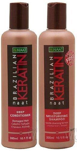 nuNAAT Brazilian Keratin naat Set (Deep Conditioner and D...