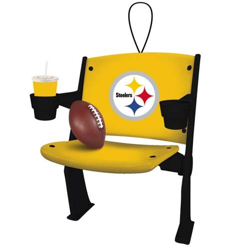 Pittsburgh Steelers Official NFL 4 inch x 3 inch Stadium Seat Ornament at Steeler Mania