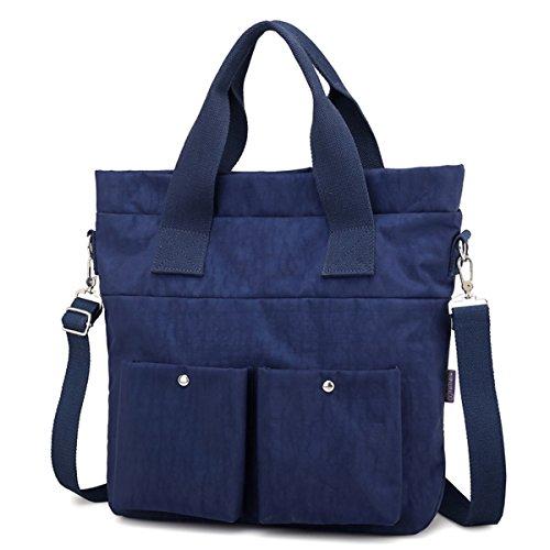 Water Kebos Blue Women Shoulder Bag Bag Handbag Tote Work body 1 Satchel Travel Bag Repellent Cross Nylon YBrqxY