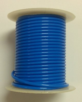 BLUE 22AWG Stranded 600V, Teflon® Insulated Hook Up Wire - 25' Roll (Teflon Copper Wire)