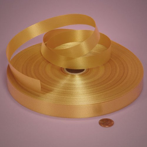 Gold Poly Satin Ribbon, 3/4