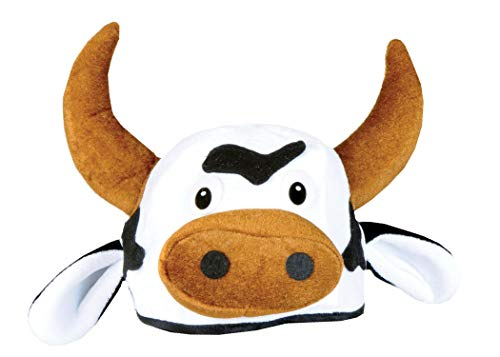 Beistle 60791 Plush Cow Head Hat (Character Half Cap Mask)
