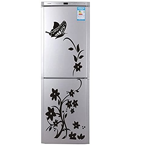 Flower Stickers XL Vine Wall Decals For Refrigerator, Icebox, Fridge, Freezer, Furniture Or Cabinets, 20 X (Mario Bedroom Decor Furniture)