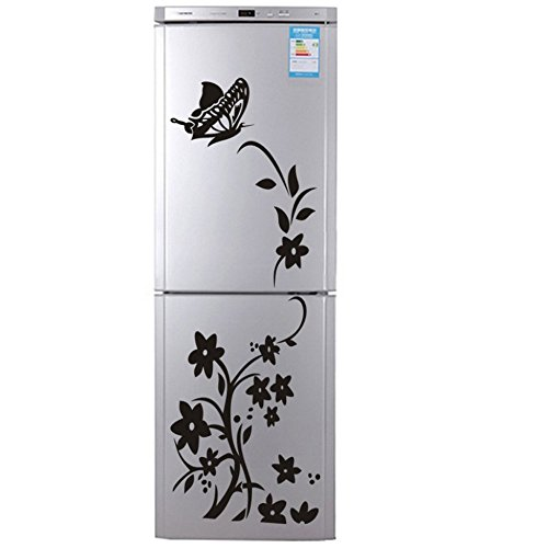 Flower Stickers XL Vine Wall Decals For Refrigerator, Icebox, Fridge, Freezer, Furniture Or Cabinets, 20 X 56