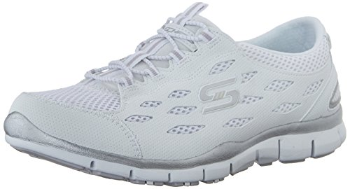 Skechers Sport Women's Gratis Bungee Fashion Sneaker,White,6 M US
