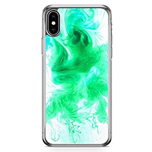 Loud Universe Phone Case Fits iPhone XS Green Water Color Transparent Edge iPhone XS Case