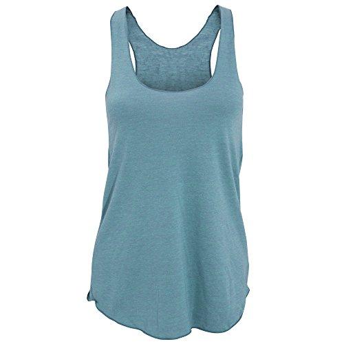 American Apparel- Camiseta de tirantes lisa tipo nadadora de varios tejidos para mujer Azul sport