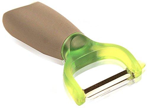 """Vegetable Peeler, Ergonomic Pressure Absorbing Handle, Stainless Steel Blade, Modern Super """"Y"""" Pro, Green"""