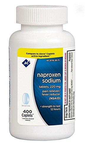 en Sodium Pain Reliever Fever Reducer Medicine Tablets 220mg Strength Last to 12 Hours - 1 Bottle of 400 Caplets (220 Caplets)