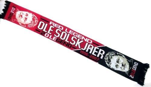Simpsons Football Limited United Legend Player Ole Gunner Solskjaer Scarf ()