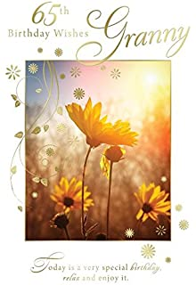 Loving birthday wishes aunt lovely bright modern flower design 65th birthday wishes granny flower field sun design happy birthday card bookmarktalkfo Gallery