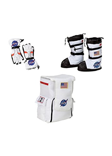 Big Boys' Nasa Astronaut Boots Gloves and Backpack Costume Accessory Kit