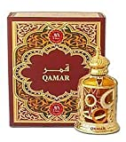Qamar - Arabian Designer Therapeutic Essential Perfume Oil Fragrance - Long Lasting Attar / Itar / Ittar - Alcohol Free - for Men and Women - hombre y mujer - Exquisite glass bottle