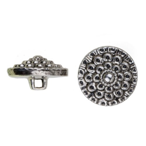 Flower Metal Buttons (C&C Metal Products 5041 Beaded Flower Metal Button, Size 45 Ligne, Antique Nickel, 36-Pack)