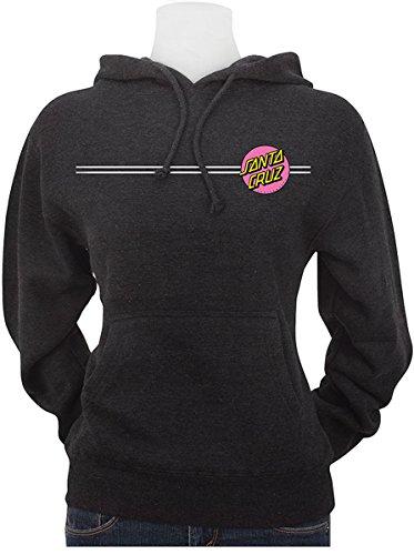 Santa Kids Sweatshirt - Santa Cruz Big Girl's Other Dot Hoody Pullover Sweatshirts,Large,Charcoal Heather