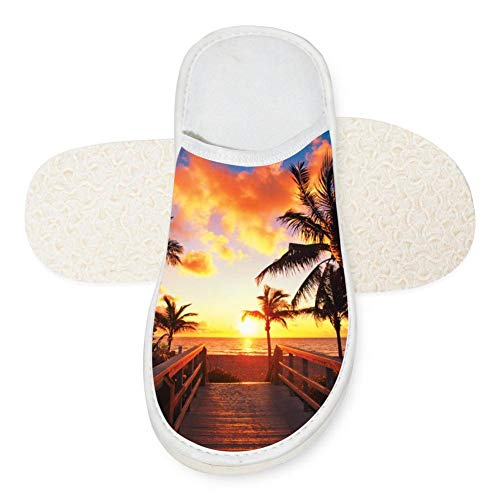 Gorgeous Places in Florida Unisex Adult Cotton House Slippers Keep Warm House Crocs Lover 14 B(M) -