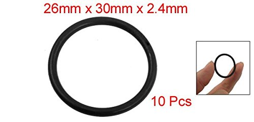 10 Pcs 30mm x 2.4mm Industrial Flexible Rubber O Rings Black