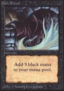 Dark Ritual 1X MP Mercadian Masques MTG Magic the gathering