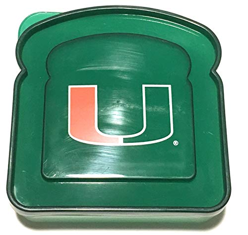 Boelter University of Miami Hurricanes Lunch Box Sandwich Container
