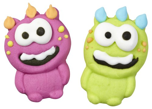 Wilton 710-0230 Monster Icing Decorations, 12-Pack ()