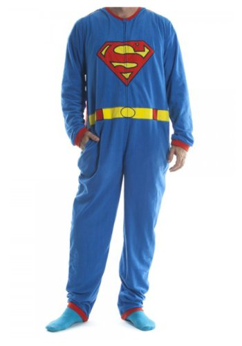 Superman - Mens Costume Union Suit With Cape